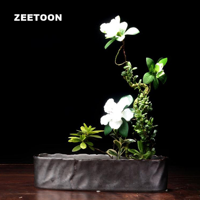 Japanese Style Vintage Rectangle Vase Ikebana Creative Home Decor