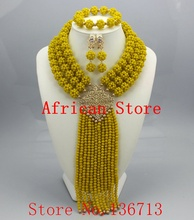 2015 Best Selling Red African Crystal Beads Jewelry Set Nigerian Beads For African Wedding Free Shipping