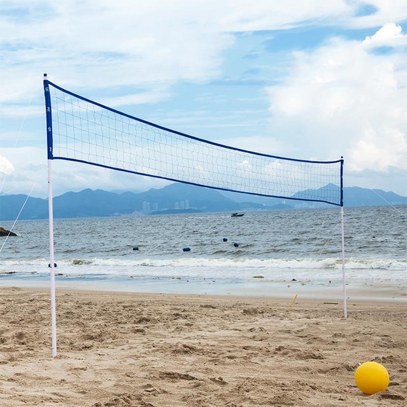 Volleyball Net Standard Portable Ball Net Outdoor Sports Volleyball Training Handball Beach Games Accessories 6.1m * 0.61m