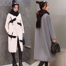 [soonyour] European Station 2016 new women in autumn and winter long woolen jacket Korean version plus size woolen coat