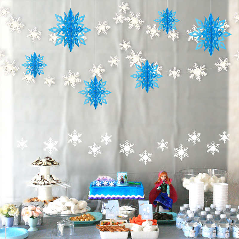 Detail Feedback Questions About 3d Value Ornaments Hanging Snowflake