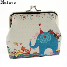 2017 New Arrivals Girls Cartoon Print Cute Change Purse Ladies Retro Vintage Leather Small Wallet Hasp Purse Clutch Bag Feb28(China)