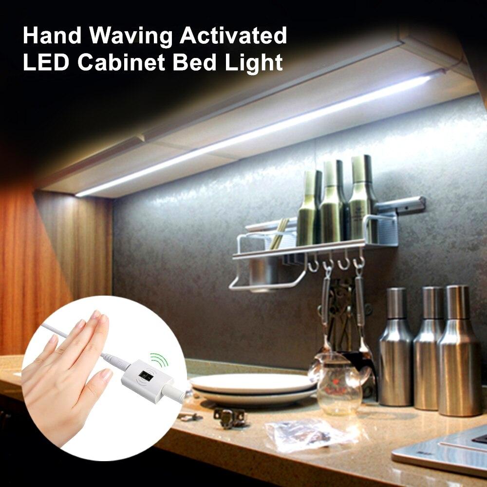 2835SMD Dimmable Hand Wave Motion Sensor Bed Light LED Strip Sensor Night Light Illumination with Automatic Shut Off Timer illumination sensor light sensor illumination ball bh1750fvi sending routine