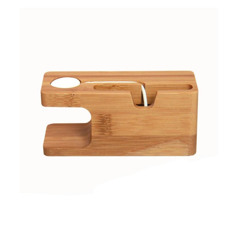 new arrive handmade universal wooden desk mobile phone holder phone charging bracket for apple watch for - Cheap Desk