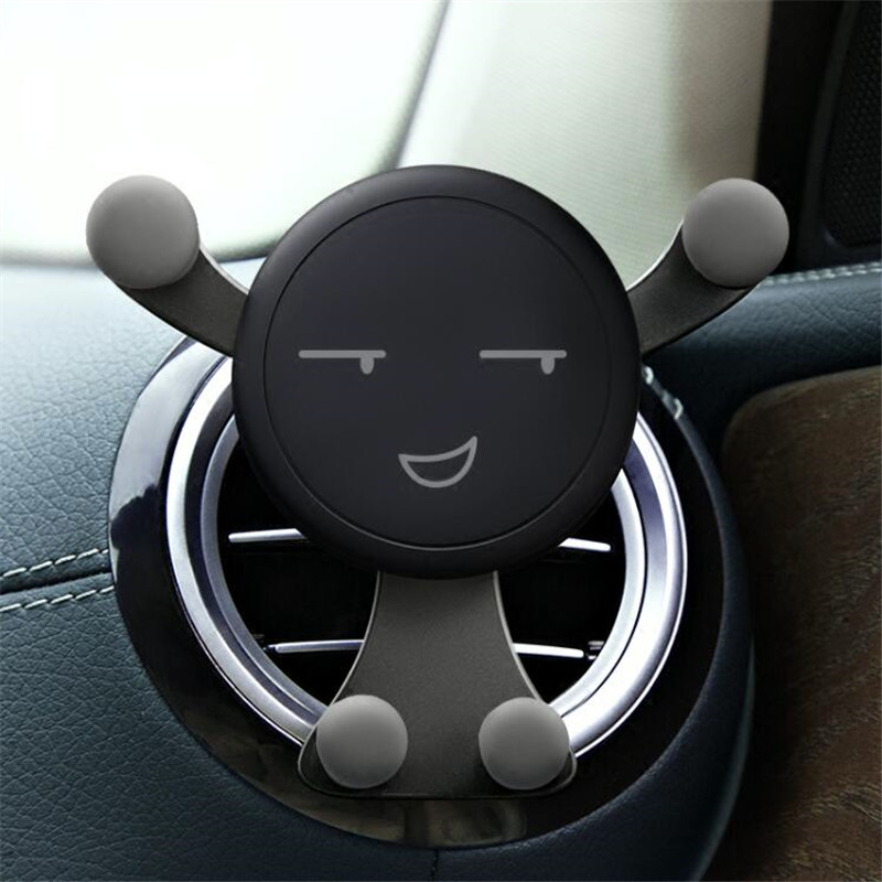 Gravity Car Phone Holder For IPhone X In Car Universal Air Vent Mount Stand No Magnetic Mobile Holder For Xiaomi Smartphone GPS