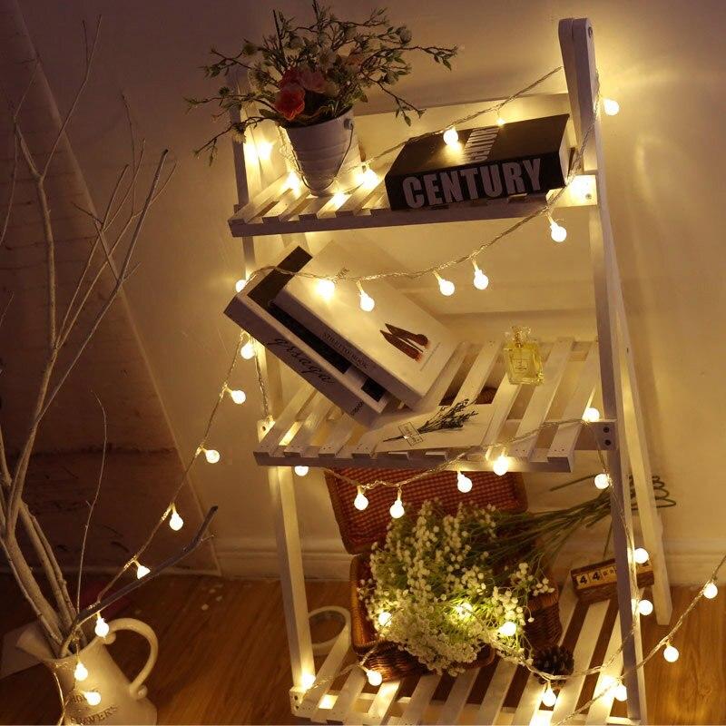 Cereja Bola de Fadas LEVOU Luzes Da Corda da bateria AA 40/20/10 LEDs Para O Feriado de Casamento Decoração de Casa