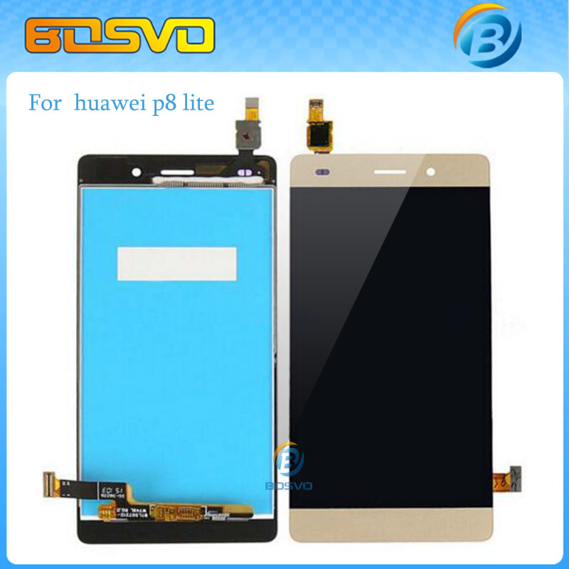Free DHL EMS shipping Replacement lcd For Huawei Ascend P8 Lite display+Touch screen Digitizer Assembly 10 pieces high quality free dhl ems shipping warranted lcd for huawei g700 screen display with touch digitizer white black color tools 10 pieces a lot