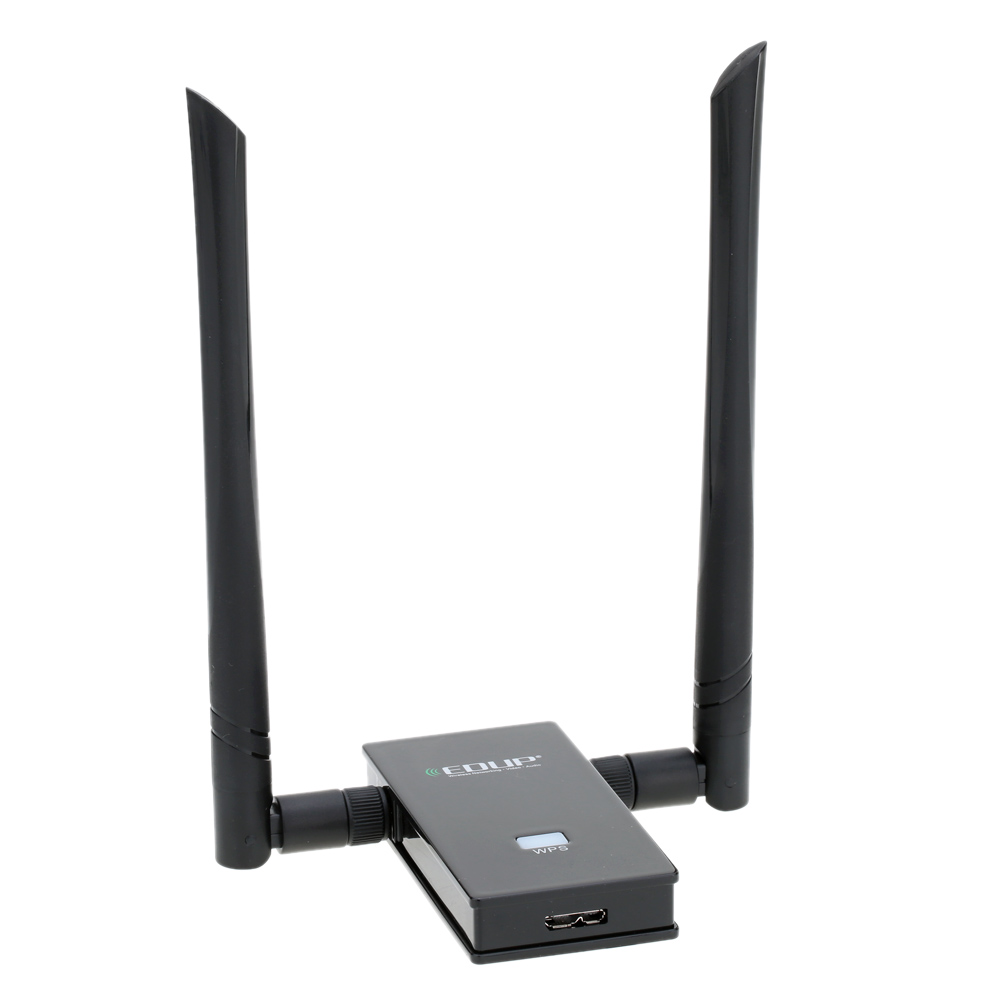 EDUP Dual Band 2.4GHz 5GHz 802.11AC 1200Mbps IEEE 802.11 a/b/n/g/ac Wireless Wifi USB Adapter Network Card with Antennas + Cable desktop pc wifi pci e adapter 867mbps bcm94352z 4pcs 6db antennas wireless computer network card 802 11a b g n ac heat sink