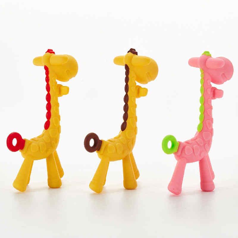 Bebê segurança mordedor chupeta dos desenhos animados cuidados dentários silicone dentes do bebê veados molar girafa mordedor mordedor mordedor