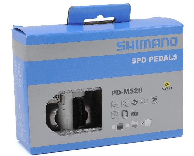 Shimano pédale PD-M520 sans Clipless SPD pédales vtt vélo course VTT pédale de vélo