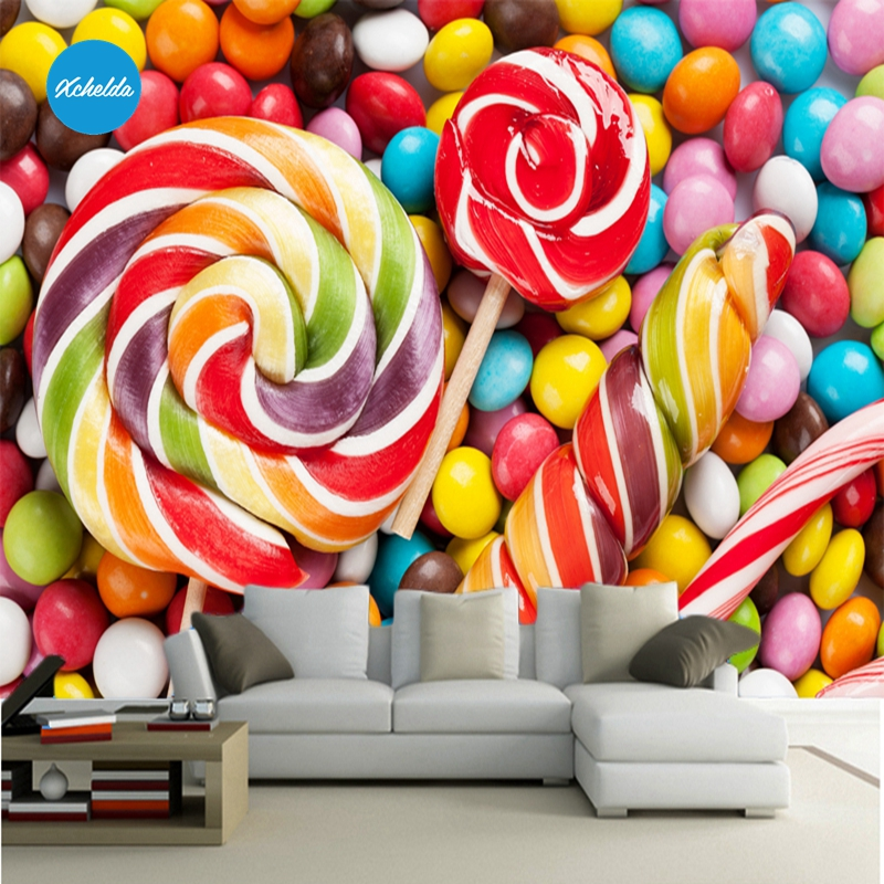 XCHELDA Custom 3D Wallpaper Design Colorful Candy Photo Kitchen Bedroom Living Room Wall Murals Papel De Parede Para Quarto kalameng custom 3d wallpaper design street flower photo kitchen bedroom living room wall murals papel de parede para quarto