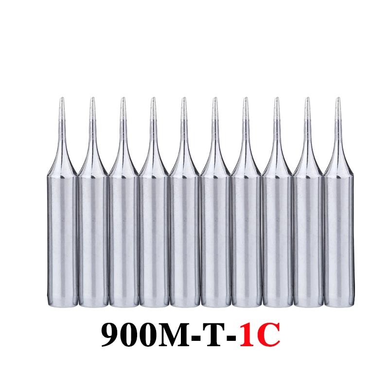 10Pcs/lot 900M-T-1C Soldering Tip Lead-free Welding Sting Soldering Iron Tip For 936 BGA Soldering Station Tools