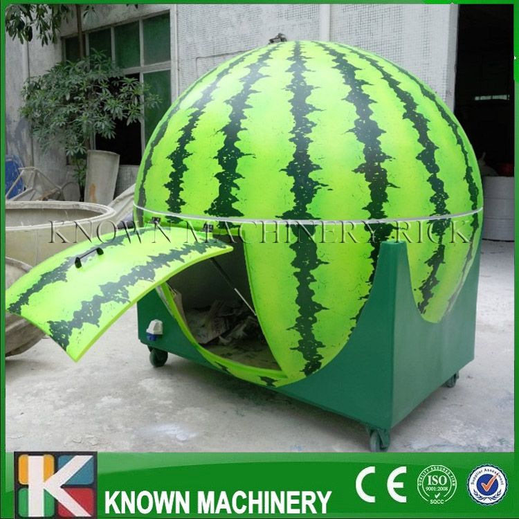 Orange, watermelon, lemon shapes optional street food cart street food kiosk fruit mobile food carts/trailer with free shipping