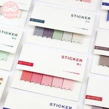 Mr paper 100 шт/лот 8 цветов блокнот с постепенным изменением