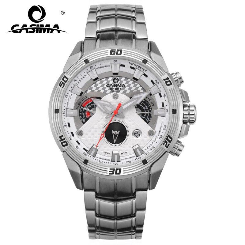 CASIMA Smart hommes montres Creative luxe Quartz analogique montre hommes militaire Sport étanche horloge blanc pour les affaires 8201