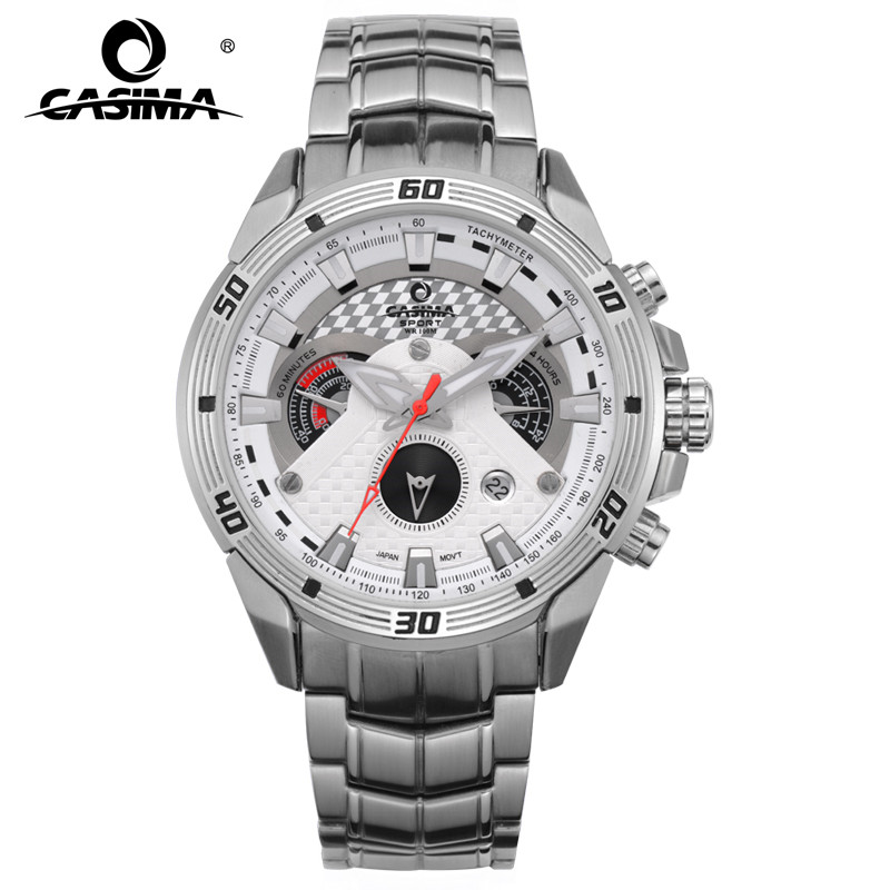 CASIMA Smart Mens Watches Creative Luxury Quartz Analog Watch Men Military Sport Waterproof Clock White for Business 8201