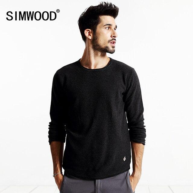 SIMWOOD Марка 2016 Новый Осень Зима Повседневная Свитер Мужчины Моды длинный Рукав свитера MY2015