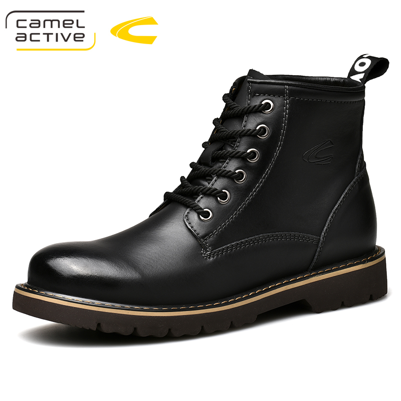 Camel Active New Men's Boots Autumn Winter Casual Man Genuine Leather Boots Youth Comfortable Men Ankle Boots цена