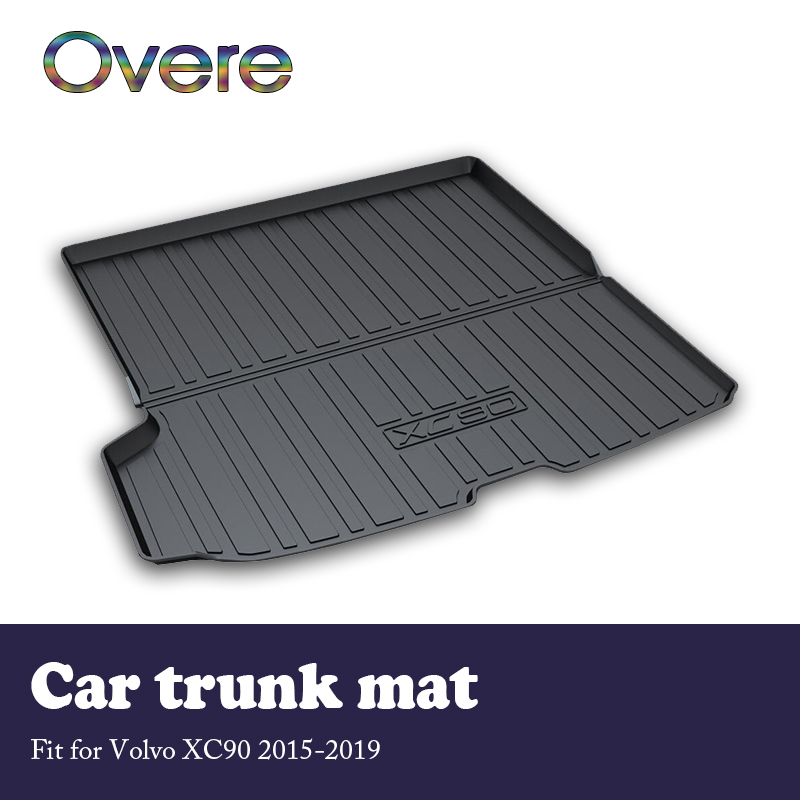Overe NEW 1Set Car Cargo rear trunk mat For Volvo XC90 2015 2016 2017 2018 2019