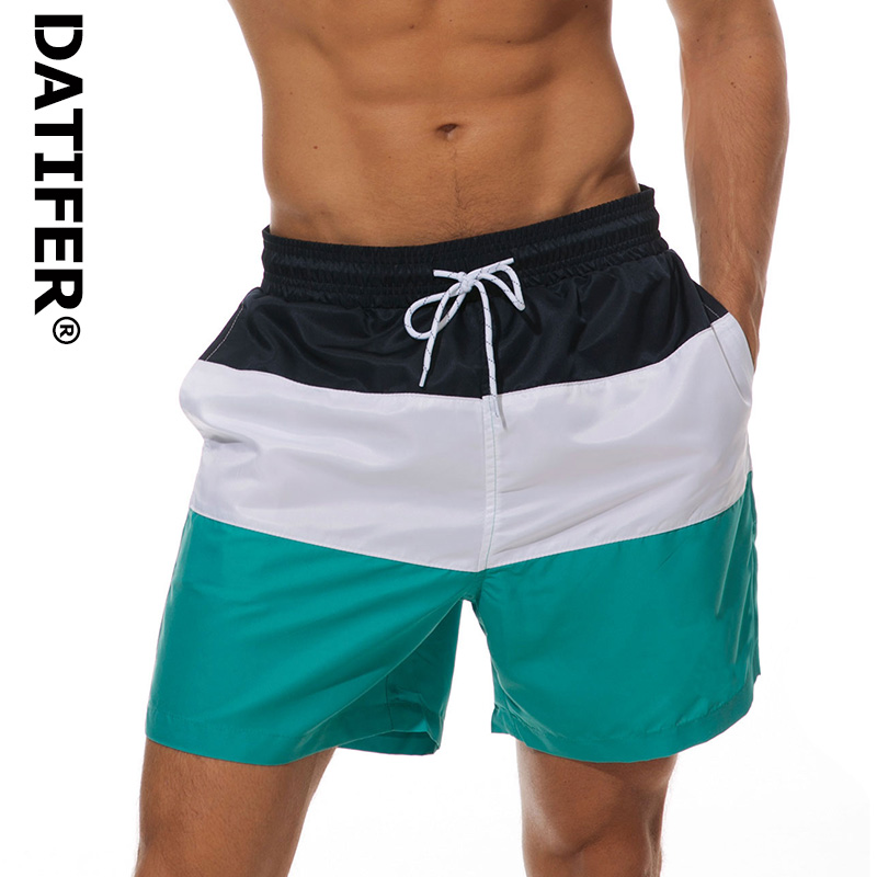 DATIFER 2019 Mens   Board     Shorts   Quick Dry Beach   Short   Man Siwmwear Swim   Shorts   Beach Wear With Brief Mesh Lining