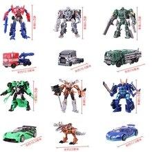 27 Cm Kotak Asli Transformasi 4 Robot Mobil Mainan Aksi Figur Klasik Robot Mobil Mainan untuk Anak-anak Hadiah Brinquedos