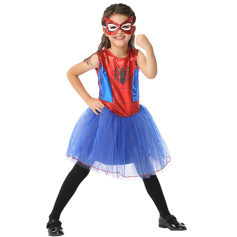 Halloween Girl Spider Costume Cosplay Dress Party Spider Cosplay Costume Children 1 Set