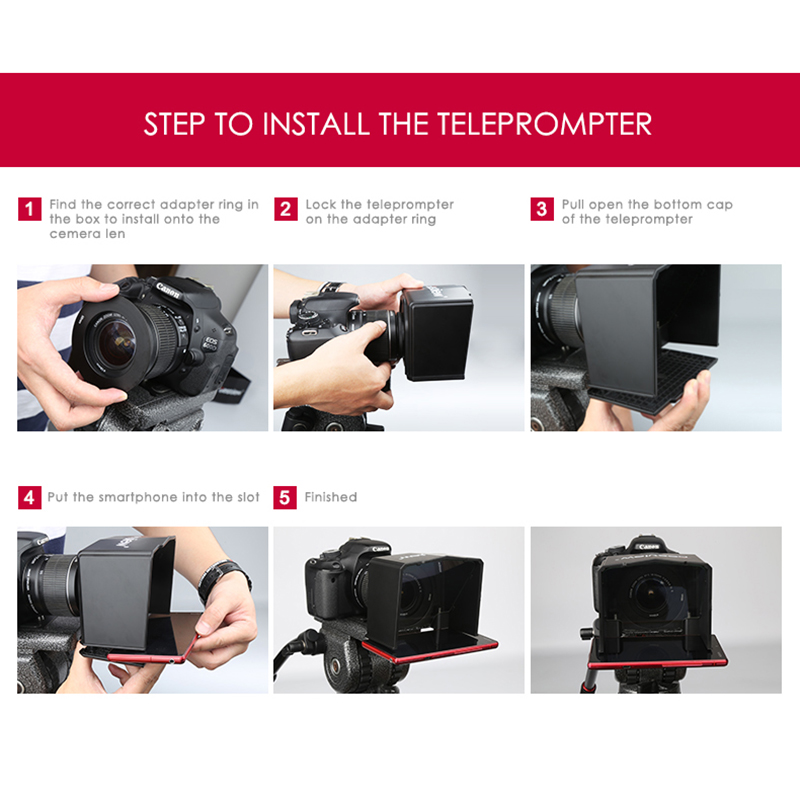 Bestview Smartphone Teleprompter for Canon Nikon Sony Camera Photo Studio DSLR for Youtube Interview Teleprompter Video Camera in Photographic Lighting from Consumer Electronics