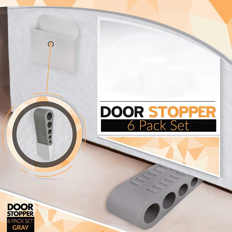 6 Pack Hot Sale Door Stopper Bonus EBOOKu0026Holders Premium Heavy Duty Door  Stop Rubber Wedge With Decorative Holder  In Door Stops From Home  Improvement On ...