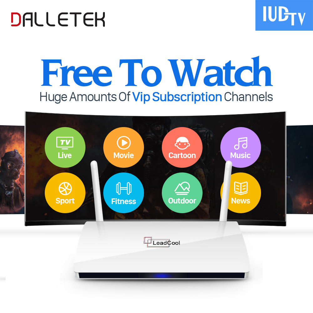 Dalletektv Leadcool Android 6.0 Smart TV Box Iptv Italy Portugal French IUDTV Code Subscription Channels Europe Arabic IPTV Box leadcool android tv box with iptv subscription 1 year iudtv 2000 iptv channels europe french arabic albania spain sweden iptv