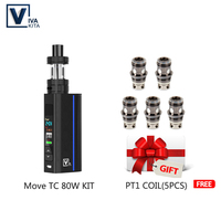 GIFT Electronic cigarette Move Grand TC 80W kit 2.0ml e liquid atomizer vapor external 18650 battery Vape Mod for 510 thread KIT