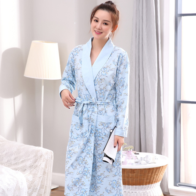 Autumn Winter Floral Sleepwear for lady Bathrobe Nightgowns Women s Robes  Dressing Gowns Bathrobe Kimino Best for Gift Clothing acec39f9f