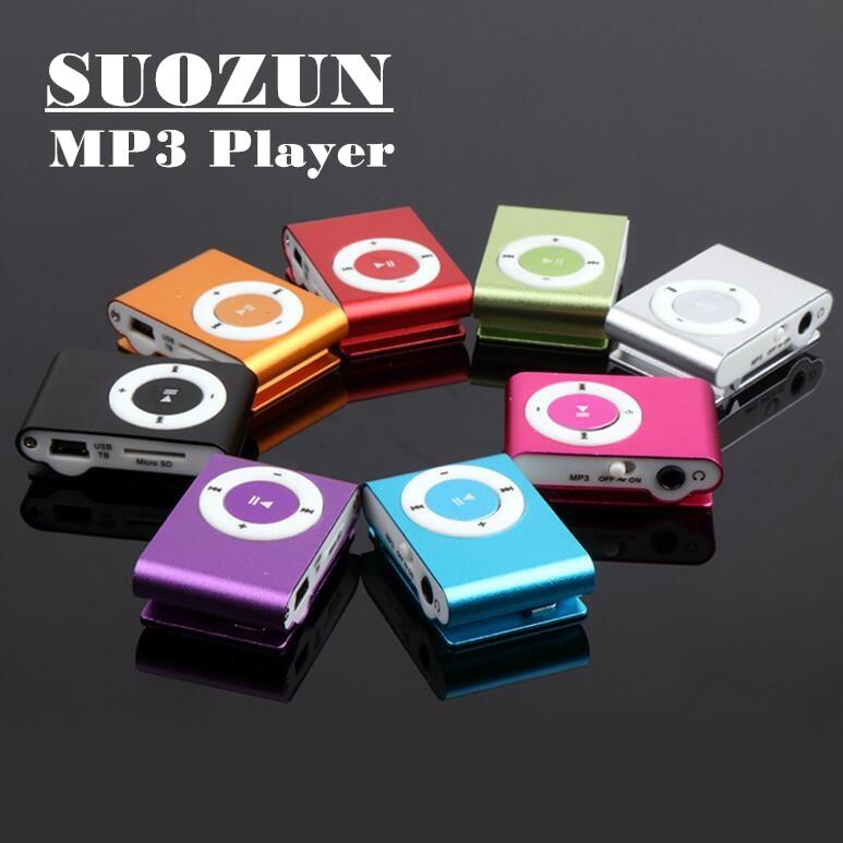SUOZUN Mirror Portable MP3 player Mini Clip MP3 Player Metal USB MP3 Music Media Player Support 32GB Micro SD TF Card Mini Clip