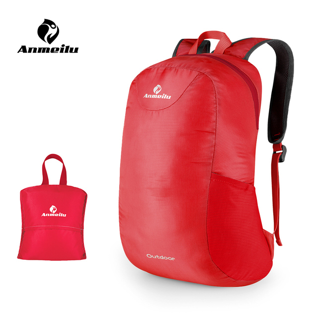 23a74e5ab0a4 15L Sturdy Lightweight Foldable Splash Rainproof Outdoor Backpack Cycling  Backpacking Travelling Hiking Bag Daypack Stuff Sack