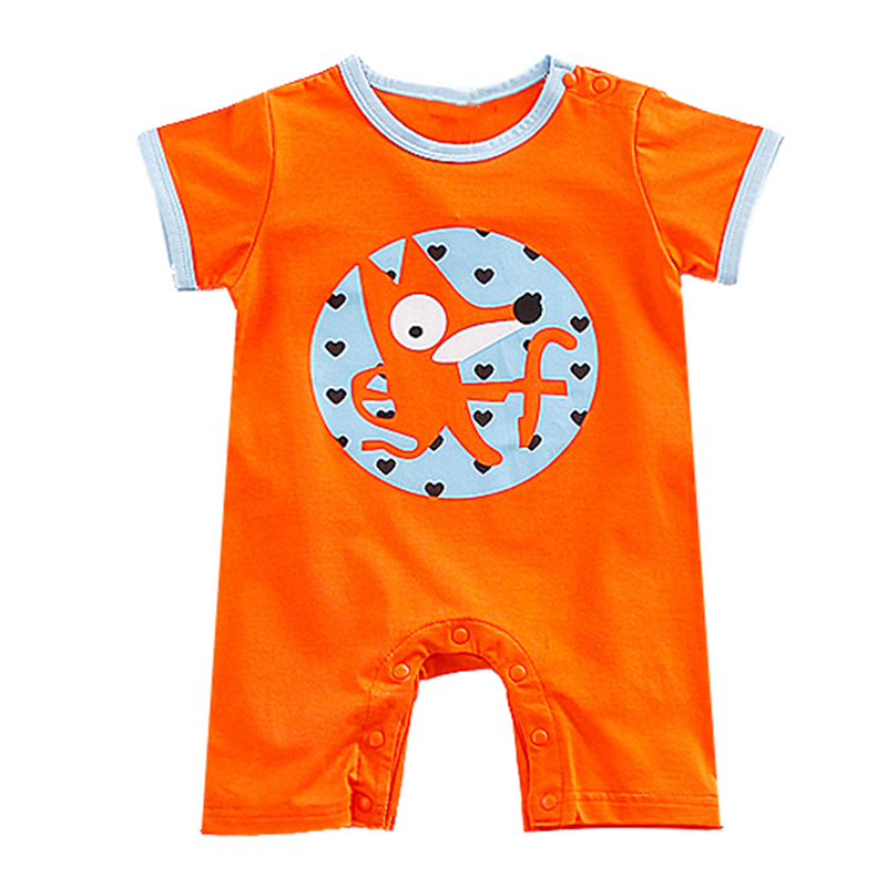 2018 Baby Clothes Summer cartoon animal section Baby Romper Small Fresh Siamese Short Sleeved Boxer Climbing Clothes For Babe