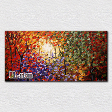 Palette knife modern paintings on canvas on the office room fresh plant oil painting for home decoration