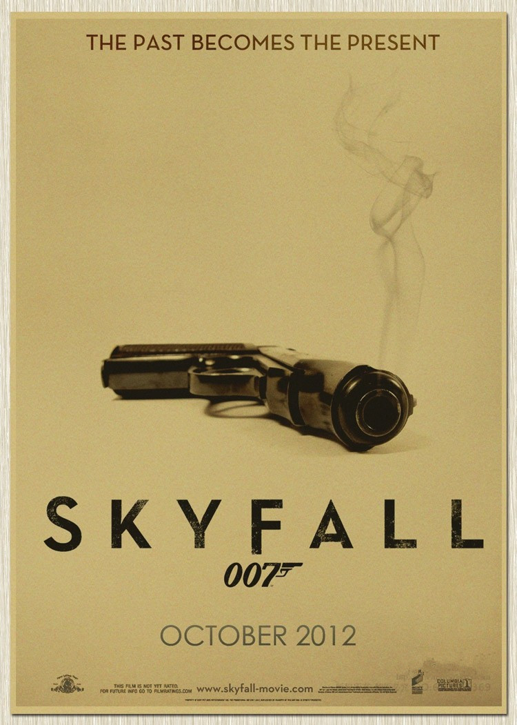 RO 288 cool man and movie 007 SKY FALL Wall Art Craft Poster kraft ...