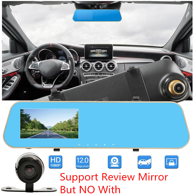 Vehemo Full HD 1080P Car Dvr Camera Auto 4 Inch Rearview Mirror Digital Video Recorder Dash Cam Registratory Camcorder