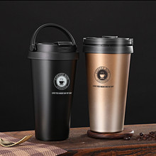 380ml/500ml Stainless Steel Travel Coffee Mug Thermos Tumbler Cups Vacuum Flask thermo Water Bottle Tea Thermocup with Brush
