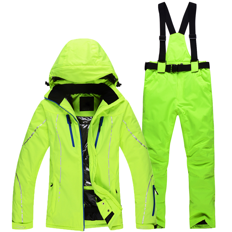 -30 Men and Woman Snow suit sets Snowboarding Clothing Outdoor Waterproof Windproof winter costumes skiing jackets and bib pants помада sleek makeup lip v i p lipstick 1010 цвет 1010 walk of fame variant hex name 950f0c