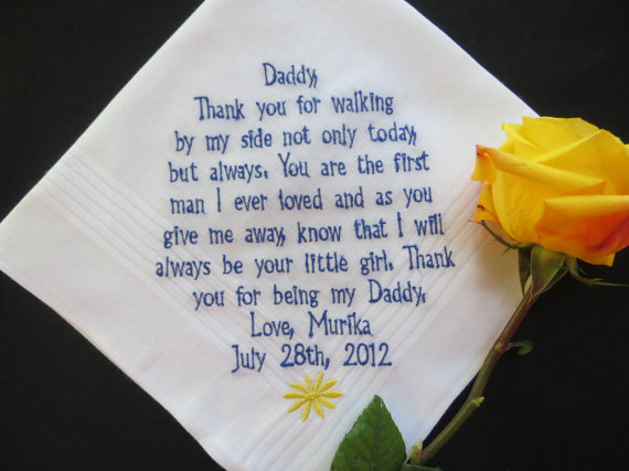 Mens Wedding Gifts From Bride: Personalized Text Yellow Rose Father Of The Bride