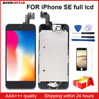 Full Assembly Replacement for iPhone SE A1723 A1662 A1724 LCD Screen Module Touch Digitizer Display+Home Button+Front Camera