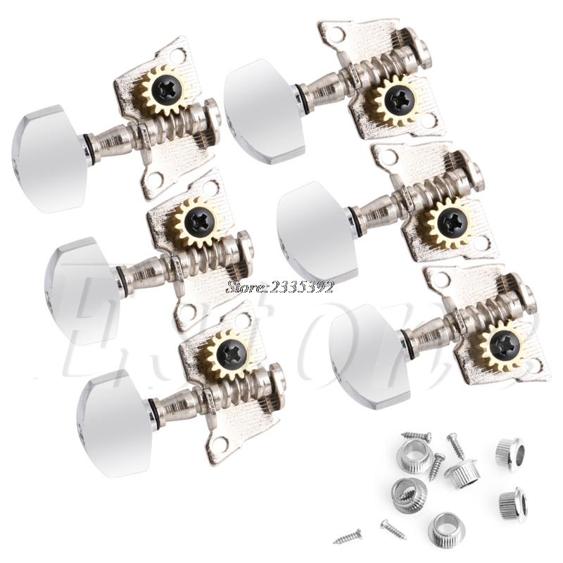 Guitar String Tuning Pegs Locking Tuners Keys Machine Heads 3L+3R Chrome 6pcs lot guitar tuners locking tuning keys pegs bass machine heads
