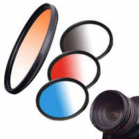 Hot ND FLD UV MC Grad Round Gradient Filter 52mm 58 67 55 77 mm for Nikon Canon EOS 7D 5D 6D 50D 60D 600D d5200 d3300 d3200