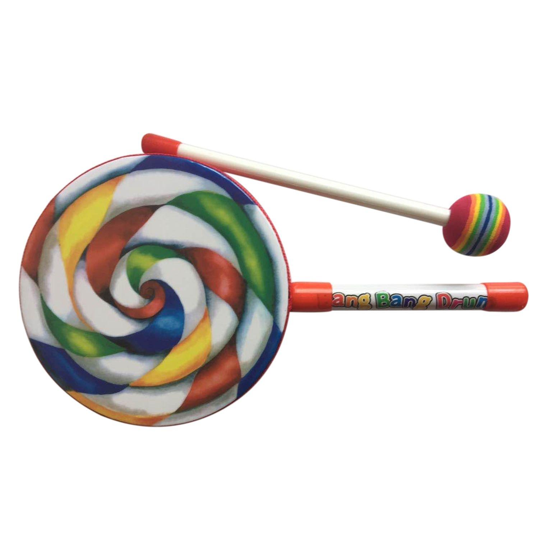 BMDT-Kids Percussion Lollipop Drum, 6inch