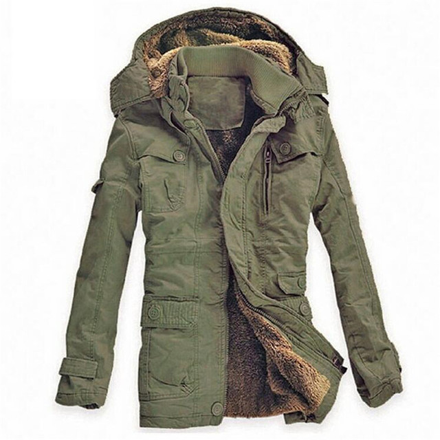 a62bd02f7eb Plus Size New Winter Jacket Men Army Military Long Thick Warm Hooded Coat  Casual Cotton-Padded Jacket Overcoat Parkas Hombre 5XL