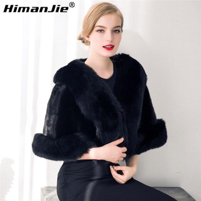 HimanJie роскошные элегантных женщин большой искусственный мех шаль толщиной искусственного меховой шарф подражали меха лисы накидка зима женщины теплый мех пашмины