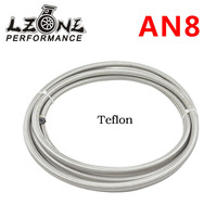 LZONE AN8 Double braided Stainless steel teflon fuel Racing Hose Fuel Oil Line AN8 ( ID: 10MM,OD: 15MM ) 5meter JR7513