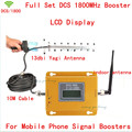 LCD Display!!! Mini 2G 4G LTE GSM DCS 1800MHZ Mobile Signal Repeater , DCS 1800 MHz cellular signal booster + 13db Yagi Antenn