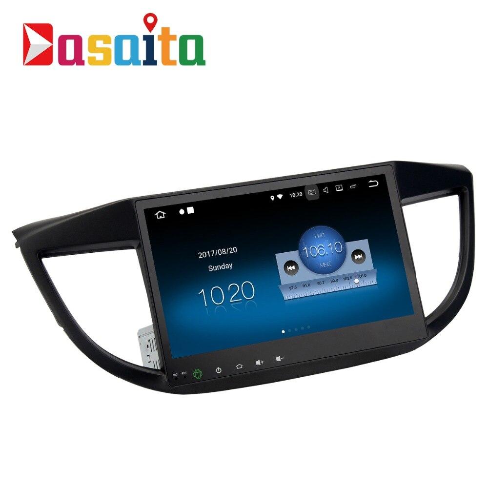 Dasaita 10.2 Android 7.1 Car GPS Player Navi for Honda CRV 2012-2014 with 2G+16G Quad Core Car Stereo Radio Multimedia HDMI seicane 10 1 inch quad core android 7 1 6 0 car stereo radio gps navi bluetooth player for 2011 2012 2015 2016 honda city