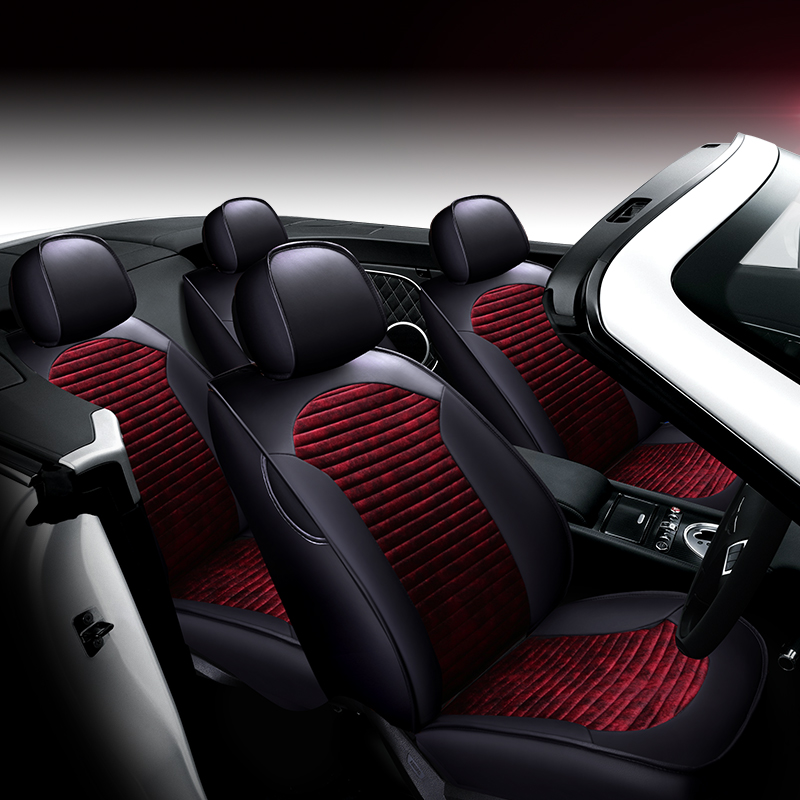 New car custom leather + velvet car cushion, four seasons seat cover, Car styling for the Audi BMW and all other cars